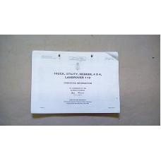 OPERATING INFORMATION HANDBOOK FOR TRUCK UTILITY MEDIUM 4X4 LAND ROVER 110